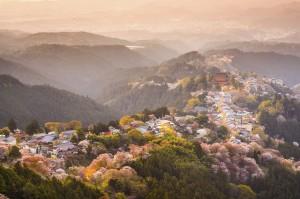 Yoshinoyama, Japan in Spring