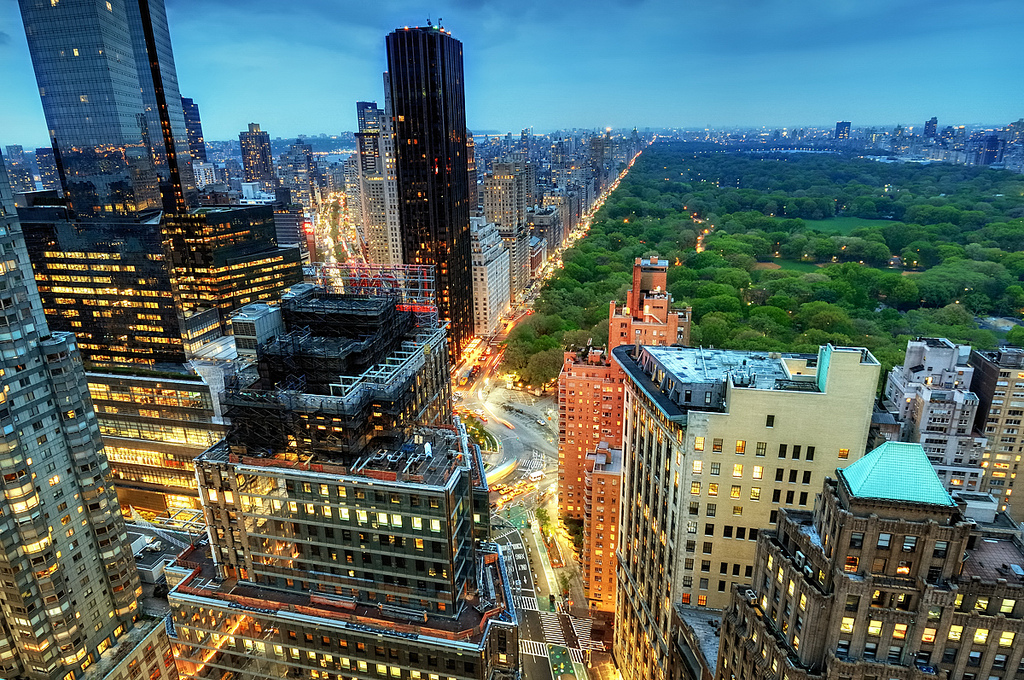 Central Park and the Upper West Side at Twilight, New York City