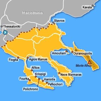 calcidica mappa